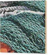 Fishing Nets Wood Print