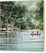 Fishing On Lazy Days - Aucilla River Florida Wood Print