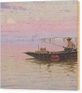 Fishing On The Lagoon, Venice, C.1890 Wood Print