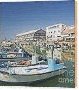 Fishing Port In Jaffa Tel Aviv Israel Wood Print