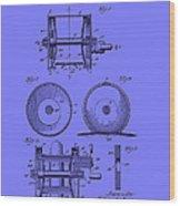 Fishing Reel Patent 1930 Wood Print