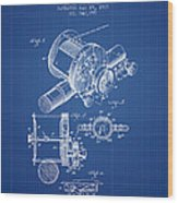 Fishing Reel Patent From 1907 - Blueprint Wood Print