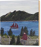 Fishing Schooner Wood Print by Barbara Griffin