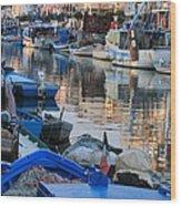 Fishing Ships In Grado Wood Print
