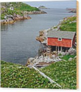 Fishing Stage Little Fogo Island Newfoundland Wood Print