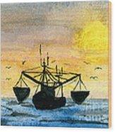 Fishing Tackle Wood Print by R Kyllo