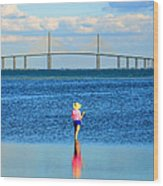 Fishing Tampa Bay Wood Print by David Lee Thompson