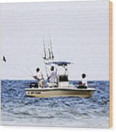 Fishing The Shallows Wood Print