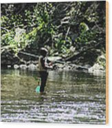 Fishing The Wissahickon Wood Print