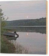 Fishing Tranquility Wood Print