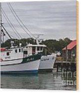 Fishing Trawlers Wood Print
