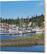Fishing Village Alaska Wood Print