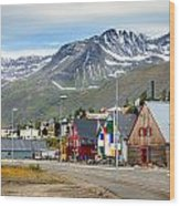 Fishing Village In Iceland Wood Print