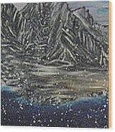 Fishing Village In  Winter Wood Print