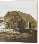 Fishing Wharf At Peggy's Cove Wood Print