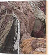 Fishnets Wood Print by Frank Tschakert