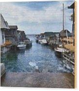 Fishtown Leland Michigan Wood Print