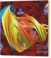 Fishy Fractelus  Wood Print