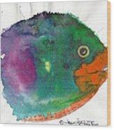 Fishy Wood Print
