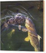 Fishy Kisses Wood Print