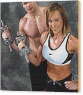 Fitness Couple 17-2 Wood Print