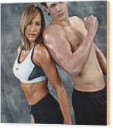 Fitness Couple 43 Wood Print