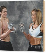 Fitness Couple 9 Wood Print