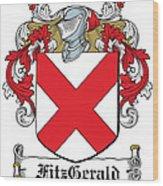 Fitzgerald Coat Of Arms Irish Wood Print