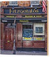 Fitzgeralds Pub - Dublin Ireland Wood Print