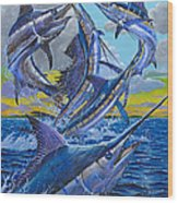 Five Billfish Off00136 Wood Print by Carey Chen