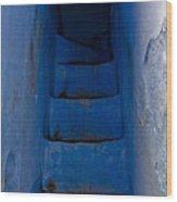 Five Blue Wood Print
