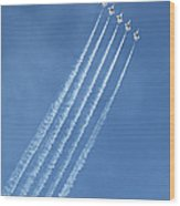 Five F-16 Fighting Falcons Reaching For Some Sky Wood Print