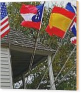 Five Flags Wood Print