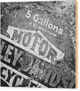 Five Gallon Motorcycle Oil Can Wood Print