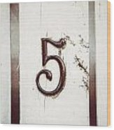Five Wood Print
