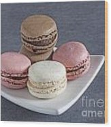 Five Macaroons Wood Print
