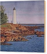 Five Mile Point Lighthouse Wood Print