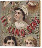 Five Senses Represented By Five Children C1900 Wood Print