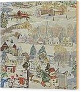 Five Snowmen - SOLD Wood Print