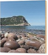 five steps to paradise - Giant pebbles is Menorca north shore close to Cala Pilar beach Wood Print