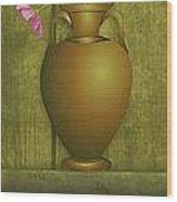 Five Vases One Flower  Wood Print