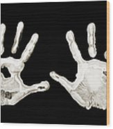 Five Years Old - Creative - Hands - First Painting Wood Print