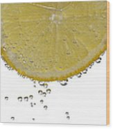 Fizzy Lemon Wood Print