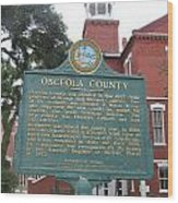 Fl-f304 Osceola County Wood Print