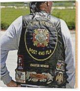 Fla Post 4143 Vfw Rider Color Usa Wood Print