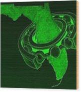 Fla Sprocket Green Wood Print