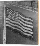Flag Formation, C1917 Wood Print