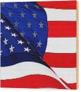 Flag Mirror Wood Print