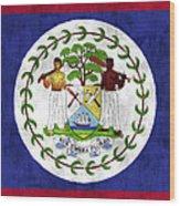 Flag Of Belize Wood Print