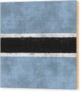 Flag Of Botswana Wood Print